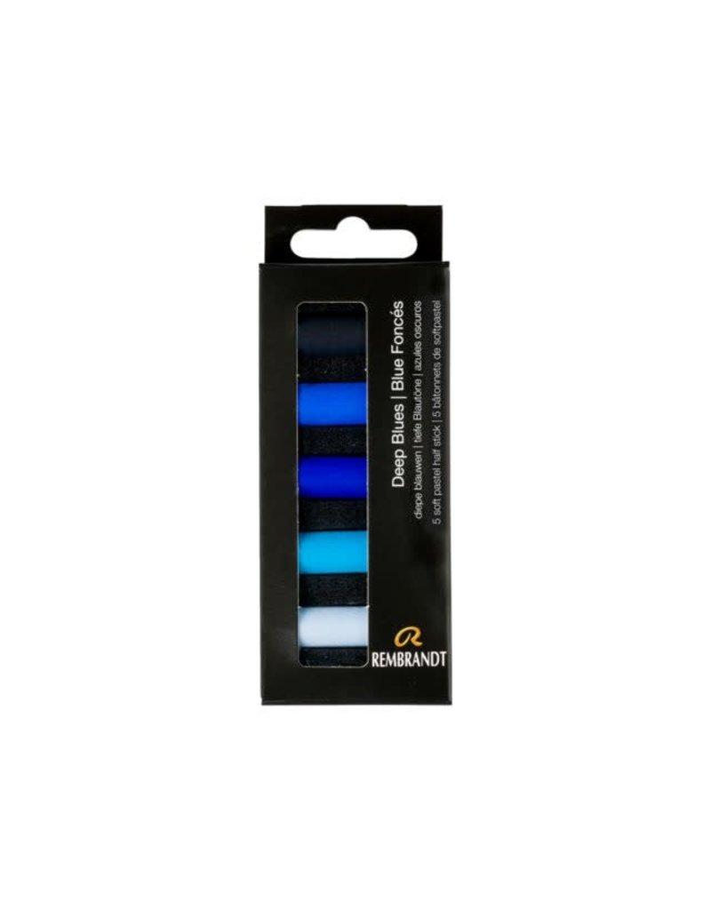 Talens Rembrandt soft pastel diepe blauwen set 5