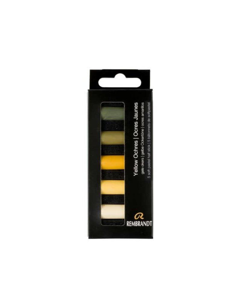 Rembrandt Rembrandt soft pastel gele okers set 5
