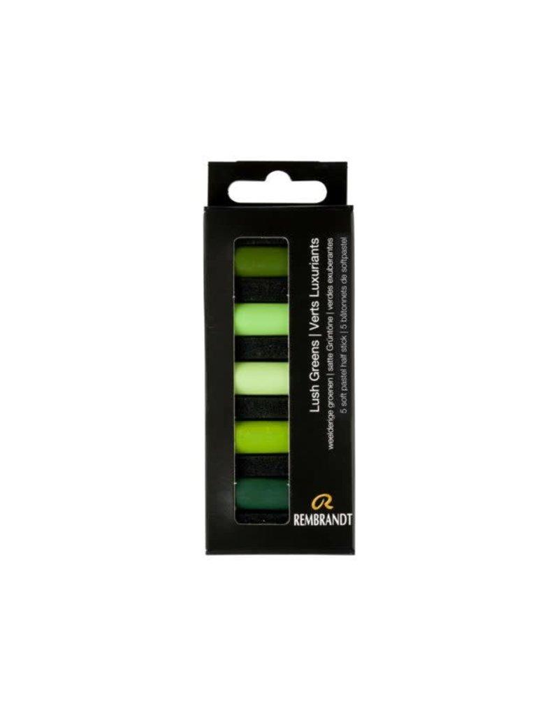 Rembrandt Rembrandt soft pastel weelderige groenen set 5