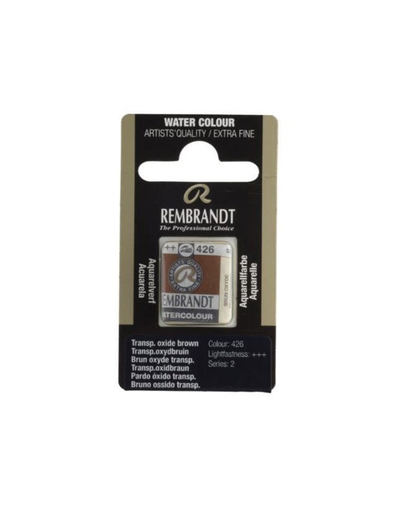Rembrandt Rembrandt water colour 1/2 pan transparant Oxyde brown