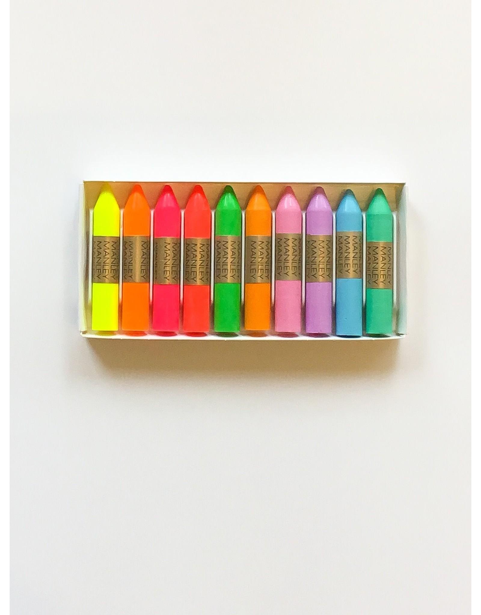 Manley Fluo & pastel waskrijtjes