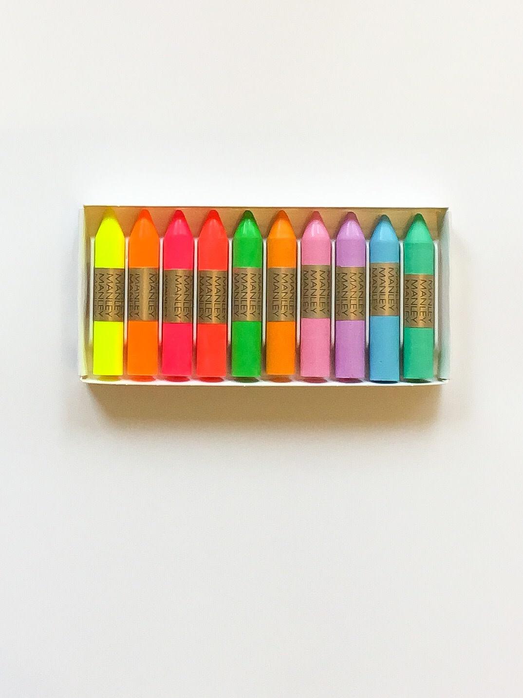 Fluo & pastel waskrijtjes
