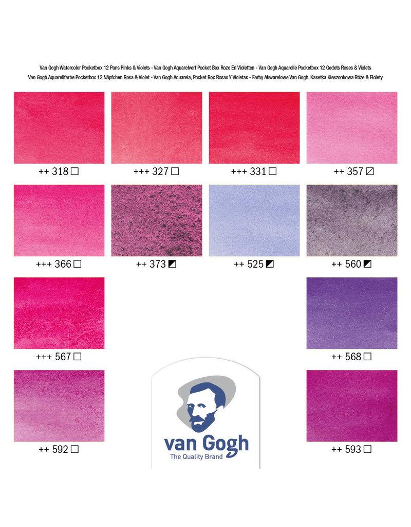 Van gogh Van Gogh pocket box rozen & violetten
