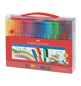 Faber Castell Koffertje met 60 viltstiften