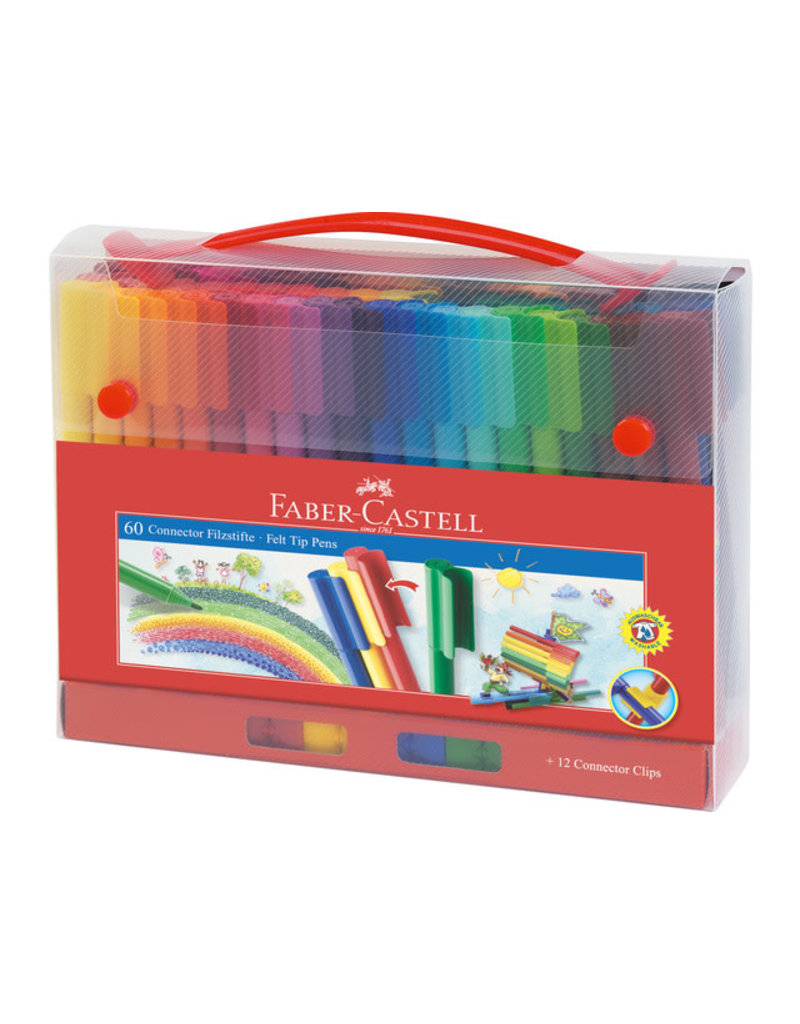 Faber Castell Case with 60 felt-tip pens