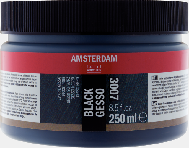 Amsterdam gesso zwart 250 ml