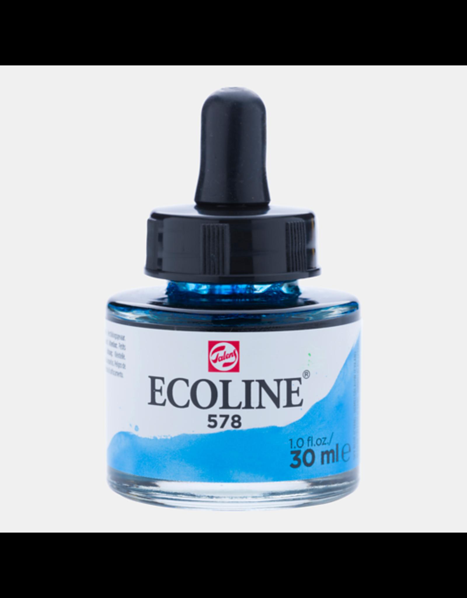 Talens Ecoline 30 ML. Hemelsblauw cyaan
