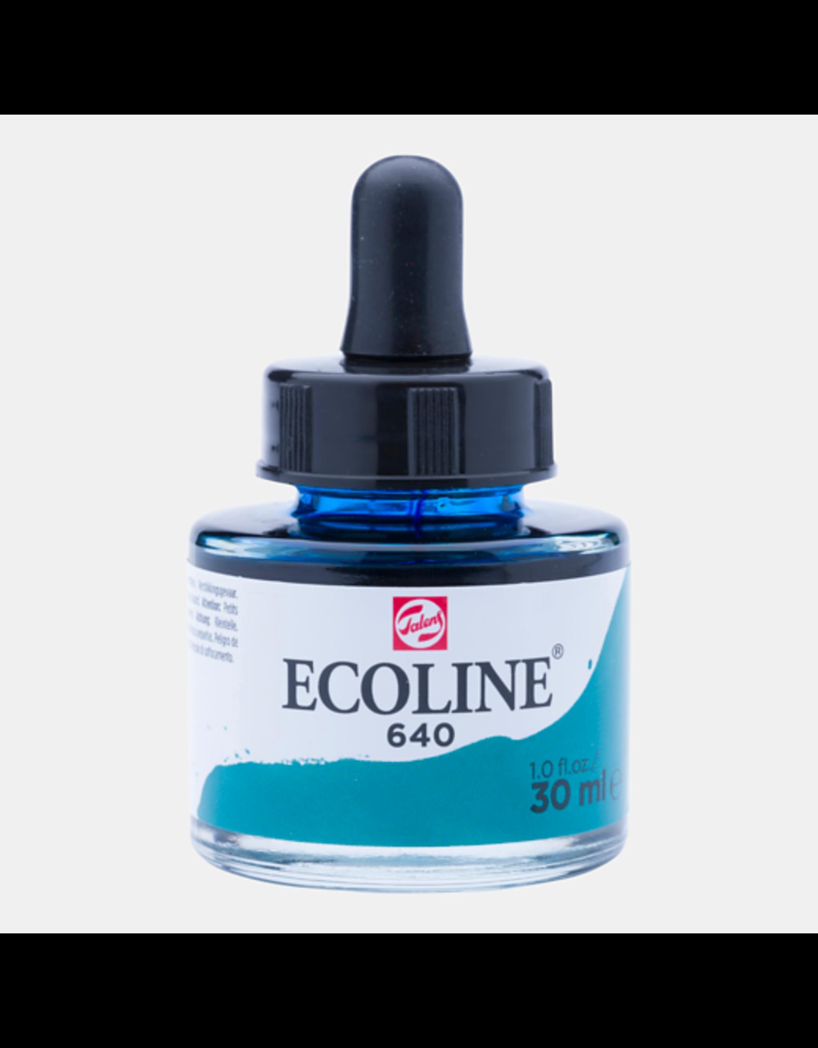 Talens Ecoline 30 ML. Blauwgroen