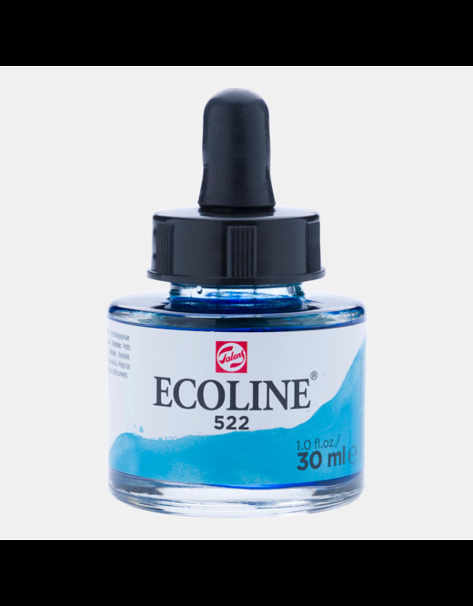Talens Ecoline 30 ML. Turkoois blauw