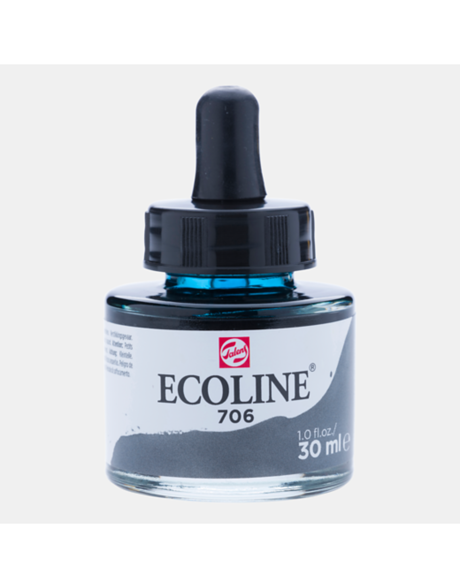 Talens Ecoline 30 ML.  Donkergrijs