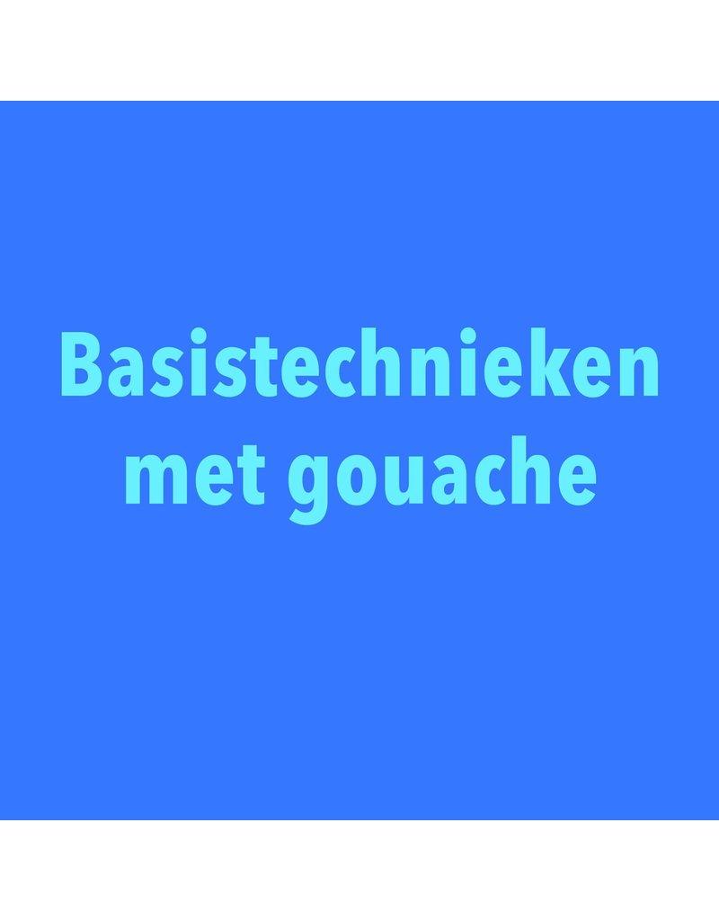 Basistechnieken met gouache - zaterdag 9/11 van 14u tot 16.30u