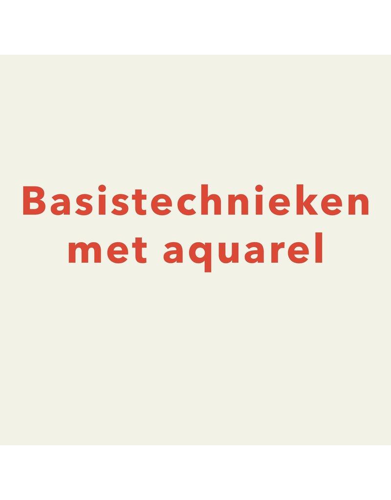zaterdag 23/11 van 10.30u tot 13u - Basistechnieken met aquarel