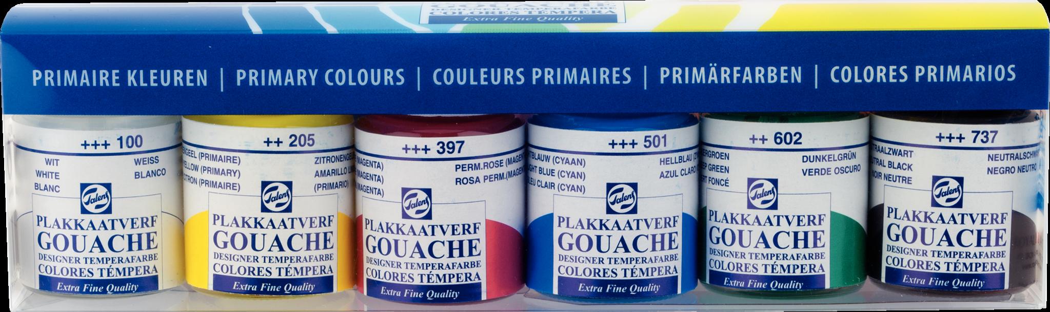 Talens Set Primaire kleuren 6X16ML.