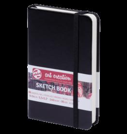 Sketch book zwart 9x14cm