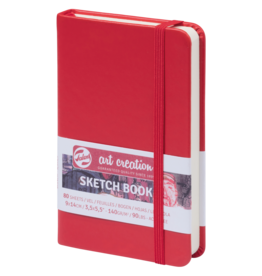 Sketch book rood 9x14cm