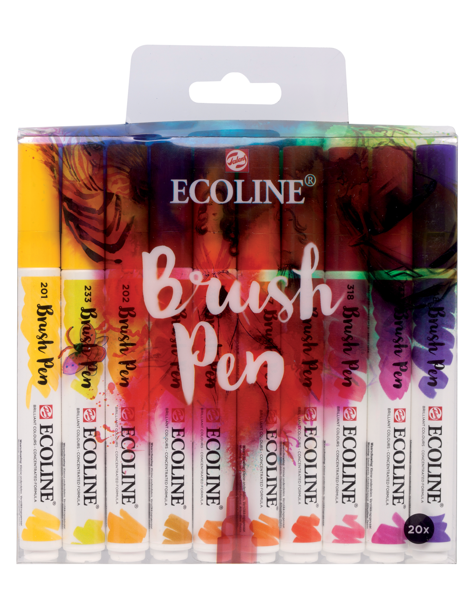Ecoline brushpen set 20