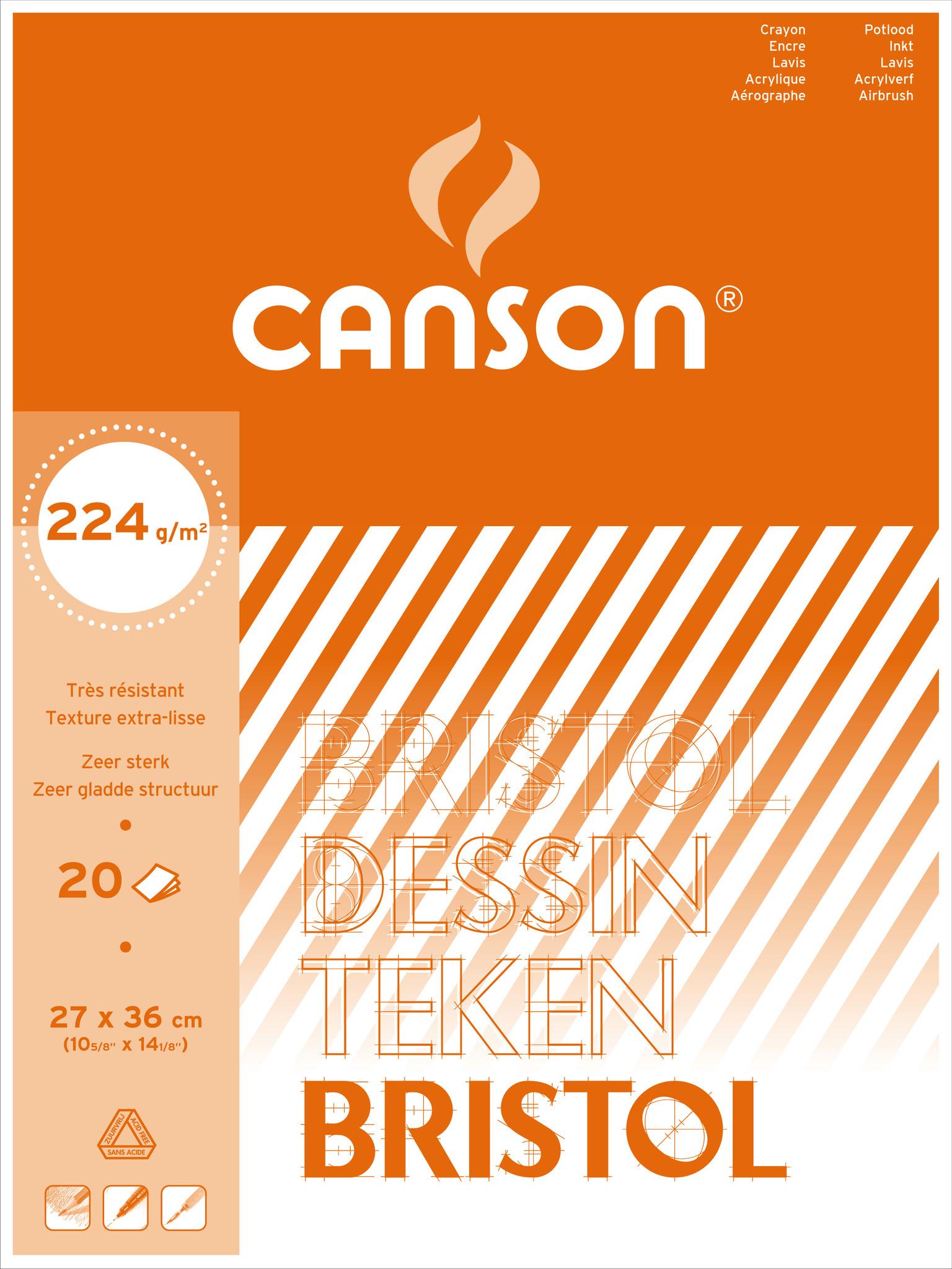 canson Bristol 27x36cm 224gr