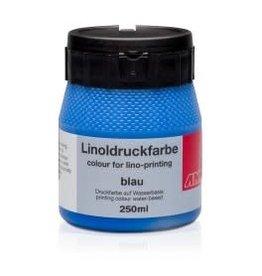 Lino drukinkt 250ml blauw
