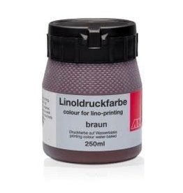Lino drukinkt 250ml bruin