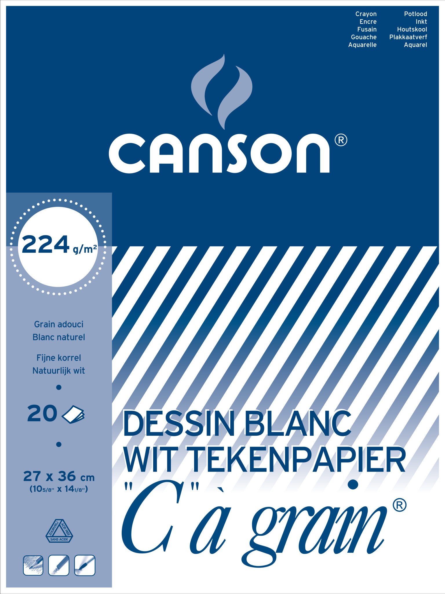 canson C a grain 27 x 36cm