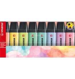 Stabilo Boss set 8 pastel