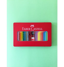 Faber Castell Box filled with drawing materials for children