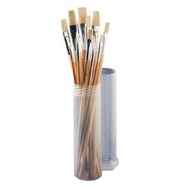 Set of flat bristle brushes