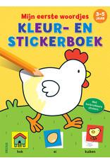 Deltas Kleur-en stickerboek - mijn eerste woordjes