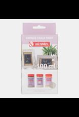 Art creation 2 x 100 ml beiges + craquelé - Vintage Chalk Paint - Set