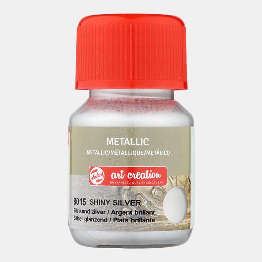 Art creation Blinkend zilver - Metallic - 30 ml