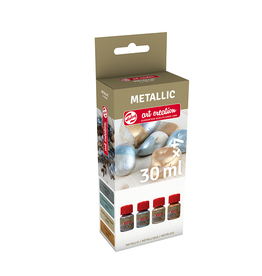 Art creation 4 x 30 ml Basic - Metallic - Set