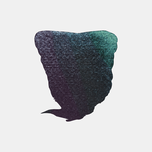 aquarel 1/2 kameleon violet/blauw/groen