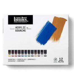 Liquitex Professional Acrylic Gouache 12X22ml Set - Essentials