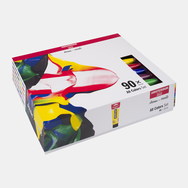 Alle kleuren set 90x20ml