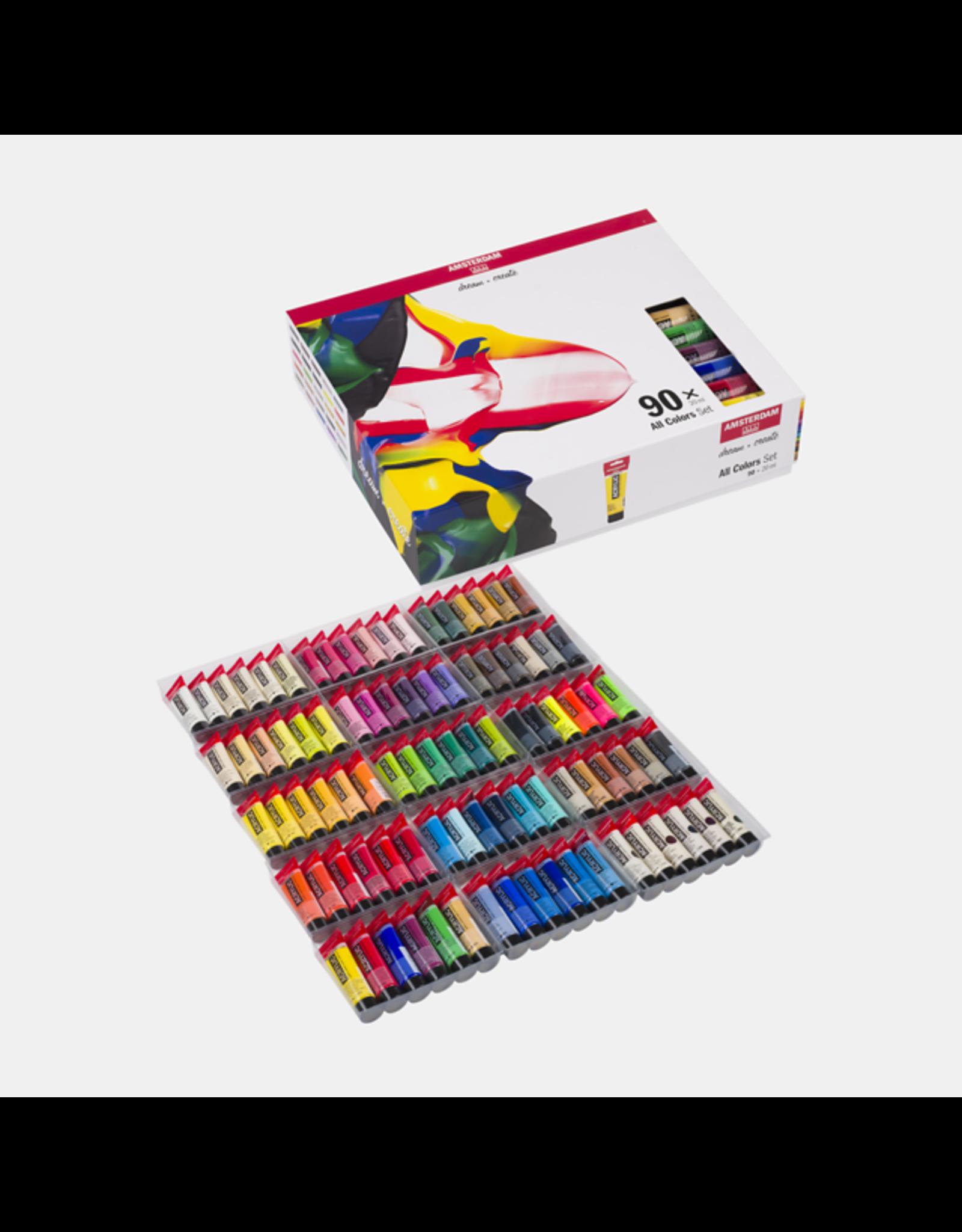 Amsterdam Alle kleuren set 90x20ml