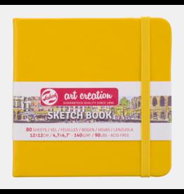 Sketch book golden yellow 12x12cm