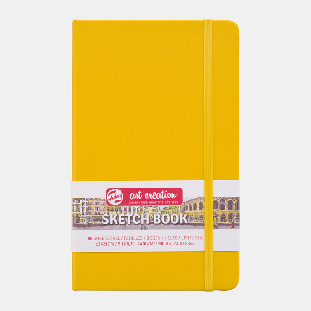 Sketch book golden yellow 9x14