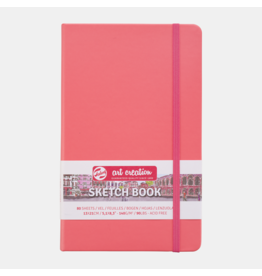 Sketch book coral red 13x21cm
