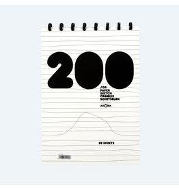 Schetsblok A4 200gr