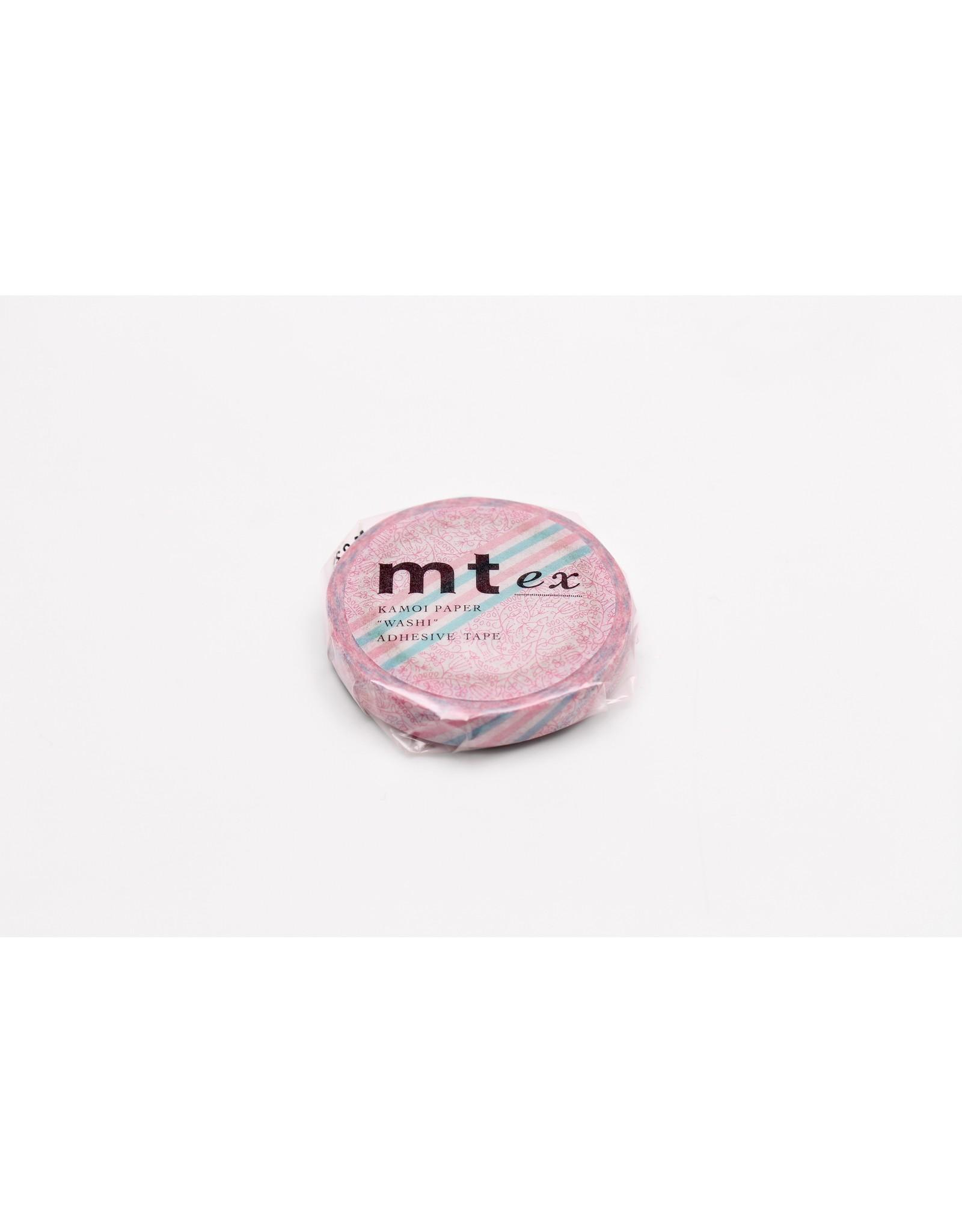 Mt mt pink flower stripe