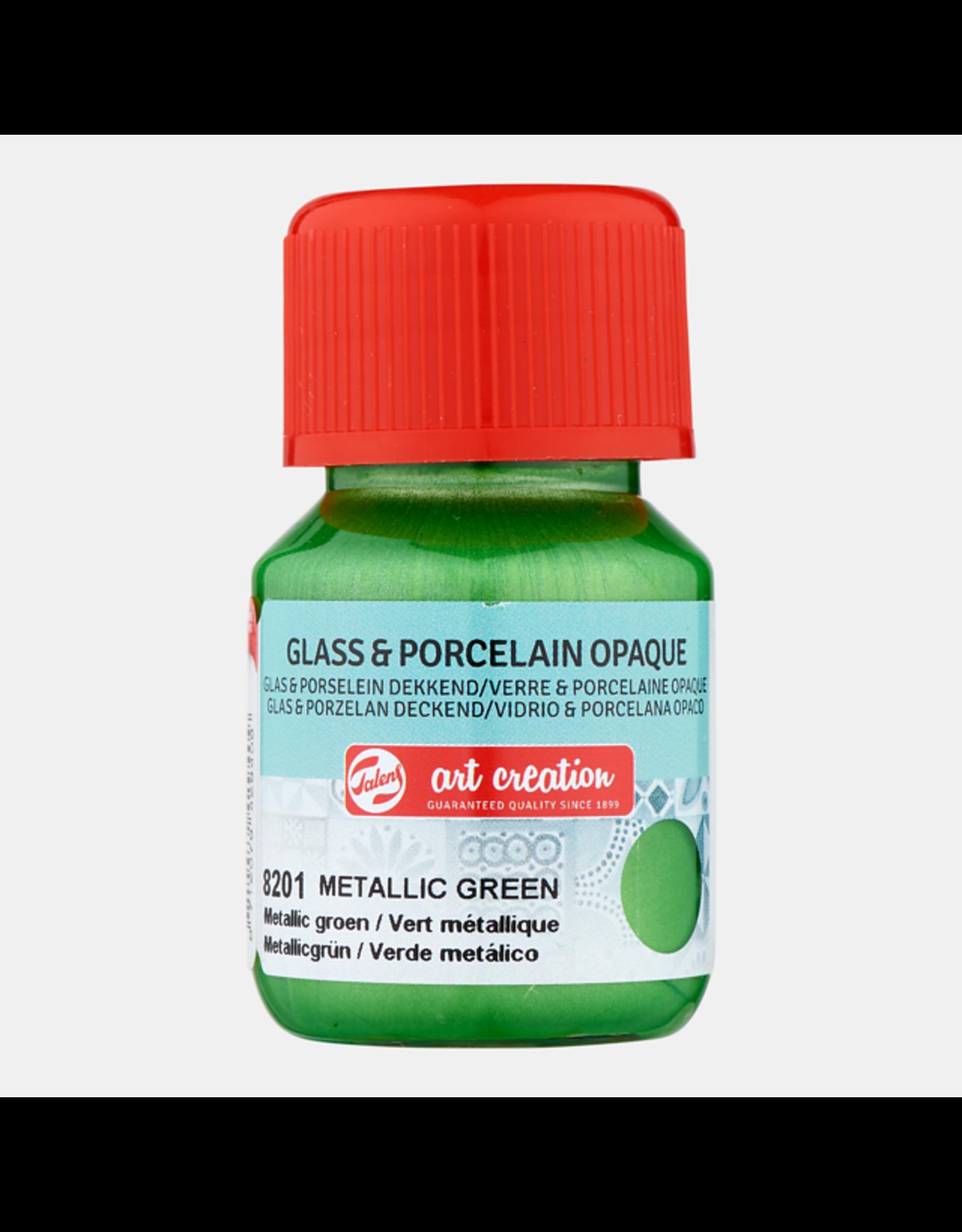 Art creation Metallic groen - Glass & Porcelain Opaque - 30 ml