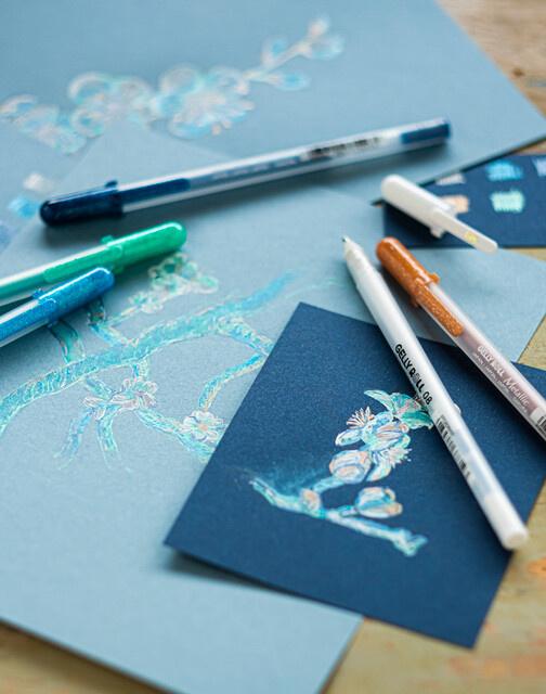 Sakura x Van Gogh Museum Gelly Roll pennen