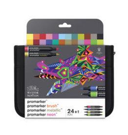 Winsor & Newton Promarker >< brushmarker set