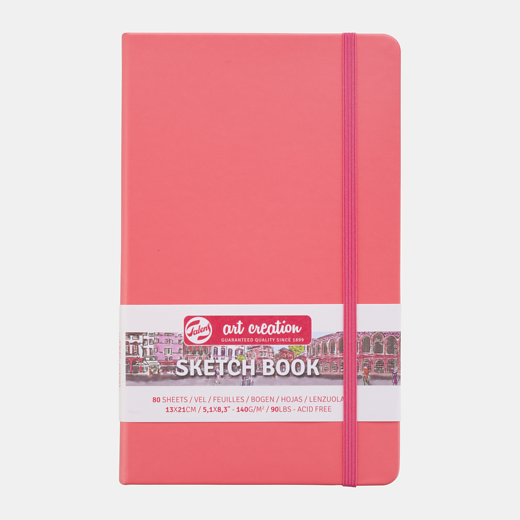 Sketch book coral red 9x14