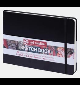 Sketch book zwart 21x14,8cm