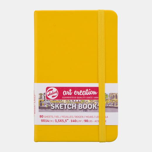 Sketch book golden yellow 13x21cm