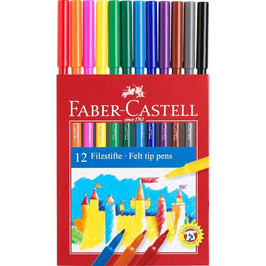 Faber castell 12 felt tip pens
