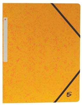 3 kleppenmap A4 geel