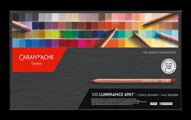 Caran d'Ache Luminance 100 kleuren  + 2 blenders
