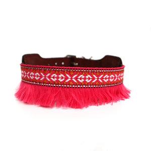 XUXO Halsband Roze met franjes